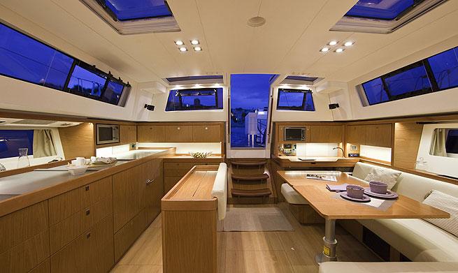 Sense 50 sailing yacht saloon