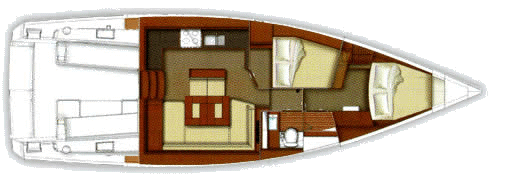 sense 43 interior cabin option plan