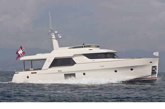 Greeline Ocean class 70, hybrid powerboat