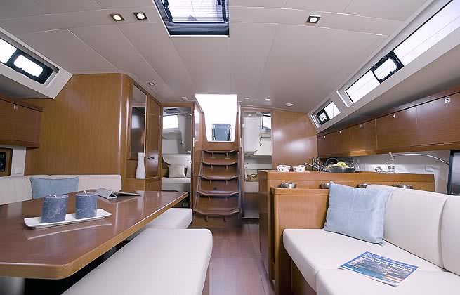 Interior Saloon of the New Oceanis 45 sailing yacht