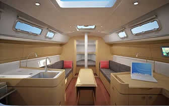 Beneteau first 35 interior