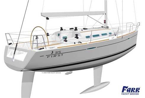 Beneteau first 35 stern