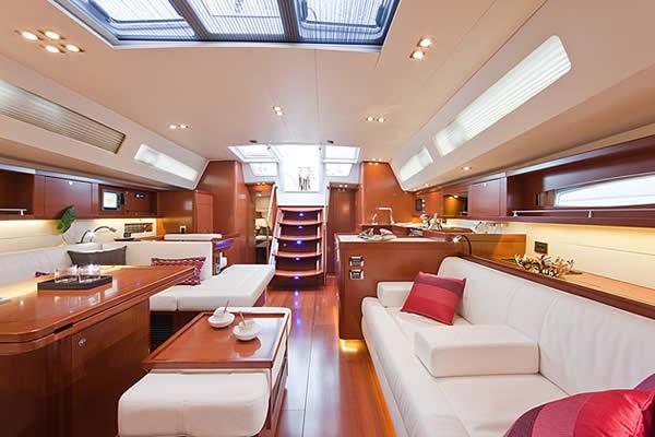 Beneteau Oceanis 58 saloon. 3 Cabin Layout