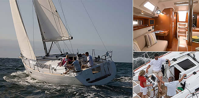 Beneteau Oceanis 34 sailing images with interior