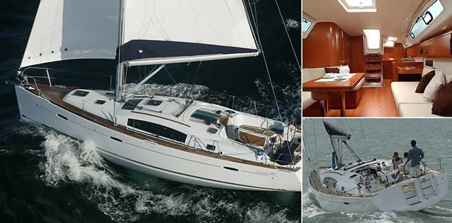 Beneteau Océanis 40 sailing images with interior
