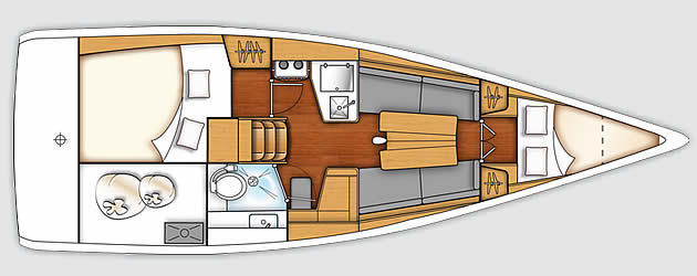 beneteau First 30 plan