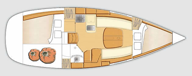 beneteau First 31.7 plan