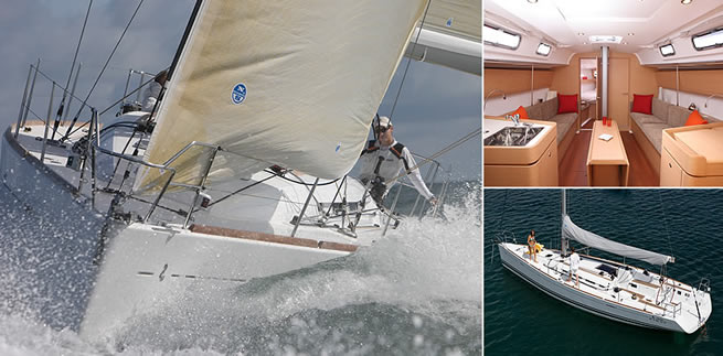 Beneteau First 40 sailing images with interior