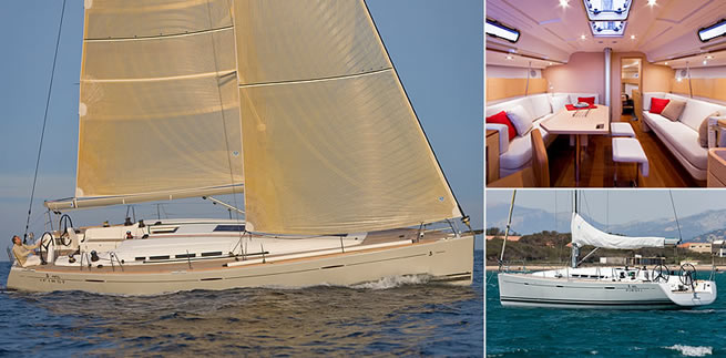 Beneteau First 45 sailing images with interior